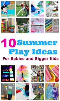 summer play ideas bigger kids babies top ten summer play