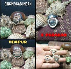 Toko barang lama mistik keris buntat geliga batu permata kebal alam ghaib: CINCIN 9 GABUNGAN TERAS LANGKA