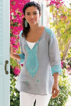 Soft Surroundings offers stylish, luxurious, comfortable women's clothing for every size. Enjoy the softest fabrics from our women's clothing catalogs and women's clothing stores. Sewing Clothes Women, Womens Clothing Stores, Clothes For Women, Classic Outfits, Stylish Outfits, Cute Summer Outfits, Cute Outfits, Smart Outfit, Blouse And Skirt