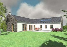 visual result of passive house plans ireland - visual result of passive house plans ireland - Irish Cottage, Country Chic Cottage, Cottage Plan, Modern Cottage, Cottage Homes, Bungalow Exterior, Bungalow Renovation, Bungalow House Design, Bungalow House Plans