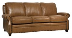Bennett Leather Sofa - Indulge in classic luxury for your living room, den, study or man cave with the handsome Bennett Sofa. Showcasing a timeless design, this stunning piece features sumptuous leather upholstery and stately nailhead trim. Leather Sofa Sale, Leather Sofa And Loveseat, Sofa And Loveseat Set, Leather Furniture, Couch Sofa, Leather Sofas, 3 Piece Living Room Set, Leather Living Room Set, Living Room Sets