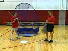 Softball Coaching - One Awesome Indoor Hitting Drill  Again, I am not a big fan of a big stride.