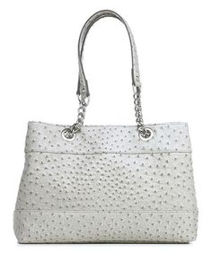 Look at this #zulilyfind! emilie m. Gray Ostrich-Embossed Nicole Shoulder Bag by emilie m. #zulilyfinds