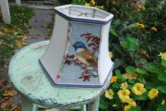 Lampshade Handmade OOAK Vintage Blue Bird by lampshadelady on Etsy