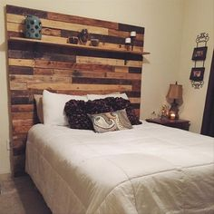 Diy Headboard With Shelves wooden wall and headboard - make from the reclaimed cedar for