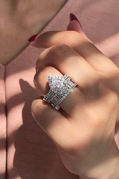 To celebrate uniqueness of every woman, we have a great collection of top engagement ring ideas. Click and find amazing ideas! Floral Engagement Ring, Classic Engagement Rings, Platinum Engagement Rings, Designer Engagement Rings, Pear Wedding Ring, Wedding Bands, Wedding Set, Wedding Stuff, Dream Wedding