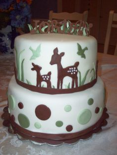 Doe and Fawn Cake - Had a friend in love with origional version of this cake, the origional maker was Adbeddin.   Thanks Abeddin for your generous help :) and inspiration.