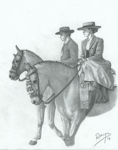 A caballo en la feria