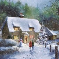 107 Best Snow Scenes Christmas Cards Images Snow Scenes Christmas
