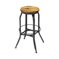 An exceptional attention to detail led to this fabulous design. The Spencer Bar Stool combines a classic natural wood seat with an ornate and complex metal frame. What results is a quasi-industrial chi...  Find the Spencer Bar Stool, as seen in the The Distillery Collection at http://dotandbo.com/collections/the-distillery?utm_source=pinterest&utm_medium=organic&db_sku=107009