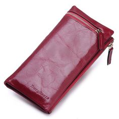 Borgasets Womens Zip Wallet Rose * More info could be found at the image url.