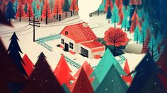 A rather lovely thing Animation, Creative Direction, Motion Graphics Anim Gif, Gif Animé, Animated Gif, Illustration Main, Digital Illustration, Les Gifs, Environment Design, Art Graphique, Stop Motion