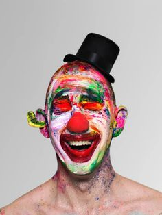 Face off: extreme clown portraits – in pictures | Art and design | The Guardian Clown Makeup, Halloween Face Makeup, French Chic Fashion, Arte Peculiar, New Shadow, Makeup Humor, Clown Faces, Face Off, Crazy People