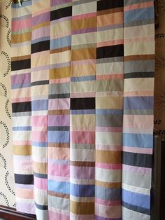 Plain Spoken Quilt from 'Modern Quilt Workshop' by Bill Kerr and Weeks Ringle. by I'm A Ginger Monkey | Kona Solids in ice cream colours. I'm not a woman for pink, but I'm loving it here