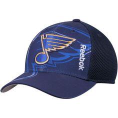 best service 1adb4 f6e94 Men s Reebok Navy St. Louis Blues Center Ice Second Season Adjustable Hat