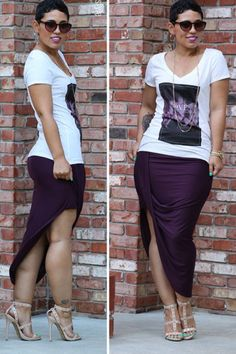 Something about this t shirt / wrap skirt combo excites me..