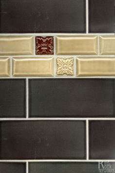 The Beveled 2x4 will add a little demension to your installation and create a nice border to showcase hand carved 2x2 Decos- by Red Rock Tileworks