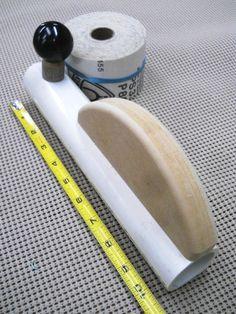 Homemade Cove Sanding Block / Bloc de ponçage convexe maison | Atelier du Bricoleur (menuiserie)…..…… Woodworking Hobbyist's Workshop