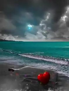 Keep beating strong dear heart, no matter what the weather may bring you ❤️💜 Beautiful Fantasy Art, Beautiful Ocean, Dark Fantasy Art, Beautiful Beaches, Love Images, Beautiful Images, Dancing Girl Images, Lovely Girl Image, Beautiful Nature Wallpaper