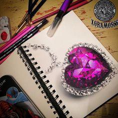 Brilliant Draw A Glass Ideas. Exquisite Draw A Glass Ideas. Gem Tattoo, Jewel Tattoo, Crystal Tattoo, 3d Drawings, Realistic Drawings, Gem Drawing, Learn Drawing, Crystal Drawing, Jewelry Design Drawing