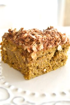PUMPKIN CRUMB CAKE - paleo, no grain, gluten, refined sugar, dairy or soy!