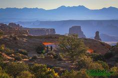 Mesa Arch and La Sal Mountains Canyonlands National Park, Utah
