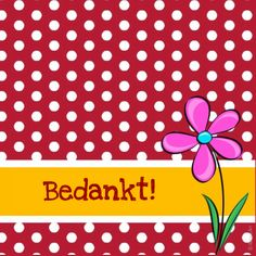 Bedankt bloem dots 1