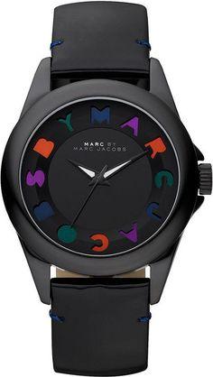 Montre pour femme : Marc by Marc Jacobs Watch Womens Dreamy Logo Black Patent Leather Strap MBM119