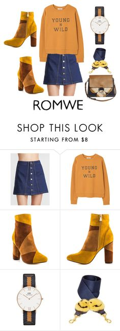 """A-line skirt with mustard"" by subvilli on Polyvore featuring MANGO, Cape Robbin, Daniel Wellington, Anya Hindmarch and Chloé"