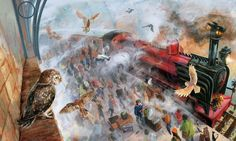 Jim Kay's Illustration for the illustrated edition of Harry Potter and the Philosopher's Stone