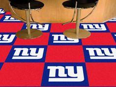 """New York Giants Carpet Tiles 18""""x18"""" tiles"""