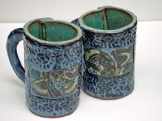 Hand Built Ceramic Art and Pottery by VickieDumas Hand Built Pottery, Slab Pottery, Pottery Mugs, Ceramic Pottery, Ceramic Art, Pottery Ideas, Pottery Designs, Pottery Art, Vases