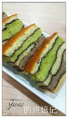 图案牛油蛋糕 / Patterned & Layered Butter Cake