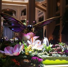 Moving Butterfly between the Palazzo and Venetian Hotels in Las Vegas