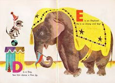 The Circus ABC by Kathryn Jackson, Illustrated by J.P. Miller (via Vintage Kids' Books my Kid Loves)