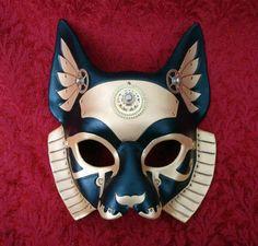 Steampunk Bastet -Egyptian Cat Goddess- Mask