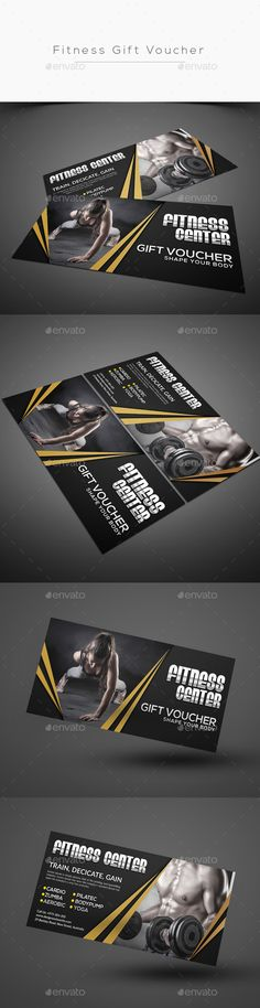 Fitness Gift Voucher Template PSD #design Download: http://graphicriver.net/item/fitness-gift-voucher/14014306?ref=ksioks