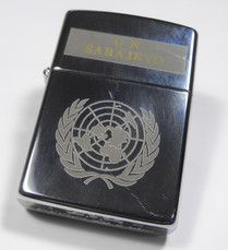 UNITED NATIONS IN SARAJEVO  (Polish Zippo Code C    VIII   = 1992)