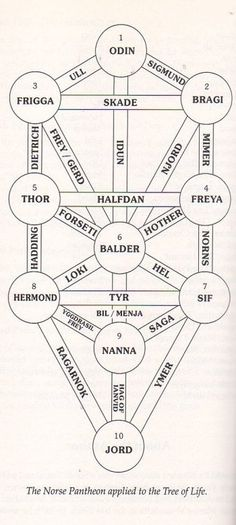 Norse Pantheon on the Tree of Life