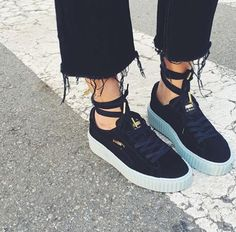 Puma creepers Rihanna pinterest @shaaawty #eclectiquestyling
