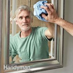 Top ten tips for tough bathroom cleaning challenges including mold, soap scum and rust stains. Thank you for showing a MAN cleaning a bathroom :)