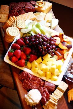 How to put together a cheese party tray for your next wine and cheese party.