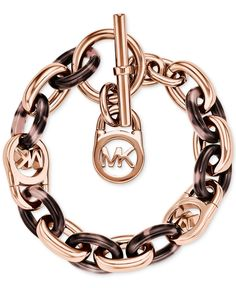 Michael Kors Rose Gold-Tone Fulton Bracelet - Jewelry & Watches - Macy's
