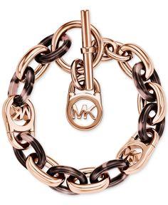 Michael Kors Rose Gold-Tone Fulton Bracelet - Jewelry & Watches - Macy's