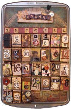 Vintage Perpetual Calendar. $69.98, via Etsy.