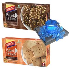 Bikano Jeera And Chocolate Kaju Cookies combo, Sweet Gift for everyone in this hamper.Treat your loved ones to a rich assortment of uniquely blended. This is a item thus slight variation may occur in terms of color and design.  Bikano Jeera Cookies - 400 gms Kaju Chocolate Cookies - 400 gms Designer Wax Candle - 1 Pcs  https://www.zorataa.com/diwali-offer/bikano-jeera-and-chocolate-kaju-cookies