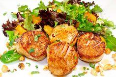 Warm Orange Scallop Salad