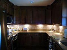 DIY under cabinet lighting... love this lighting