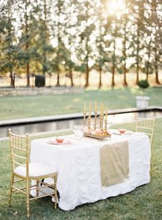 Pretty Garden Sweetheart Table | Photo by Kay English