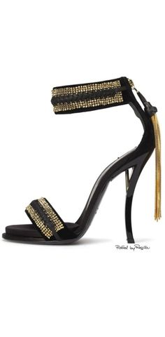 East Coast Style / karen cox.  Regilla ⚜ Roger Vivier high heel black evening sandal